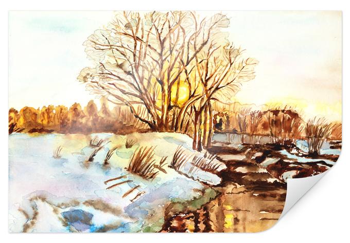 Poster Toetzke - Goldener Winter