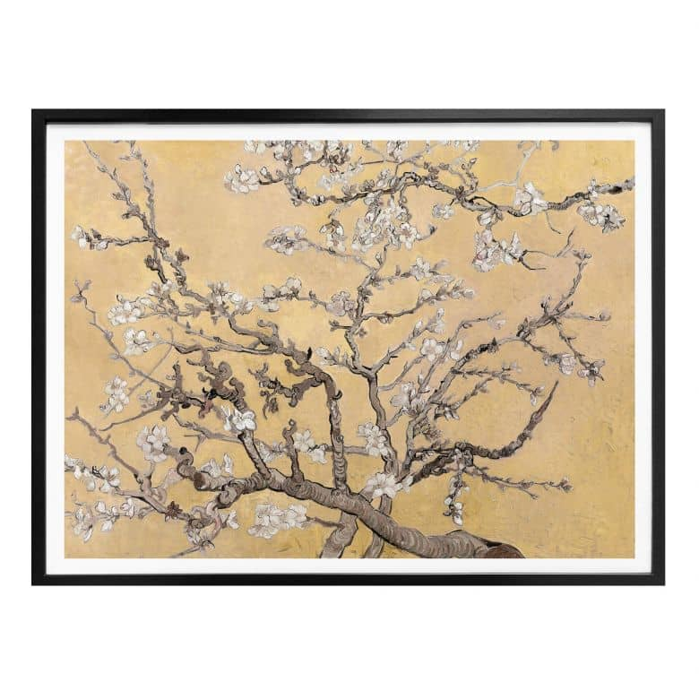 Poster van Gogh - Mandelblüte Creme