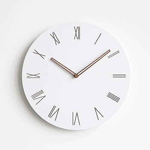 Wooden Clock White Ø 29 cm
