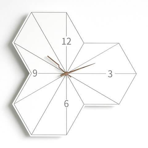 Modern Hexagon Clock - 30x30 cm