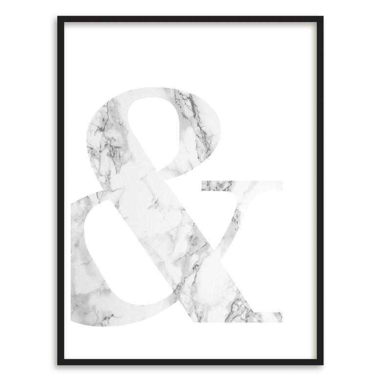 Gerahmtes Poster Marble Ampersand | wall-art.de