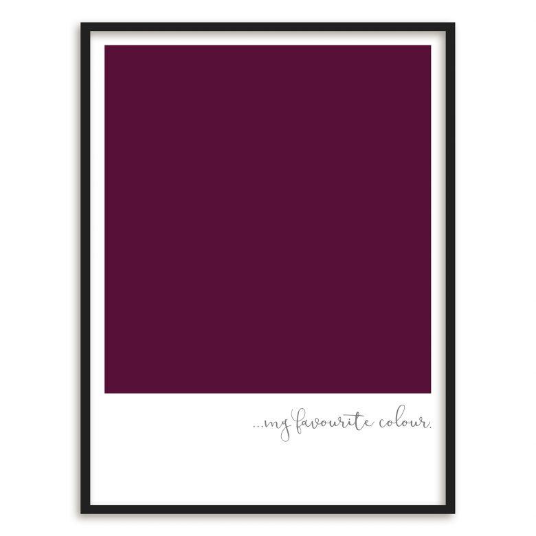 Gerahmtes Poster My favourite colour - purple | wall-art.de