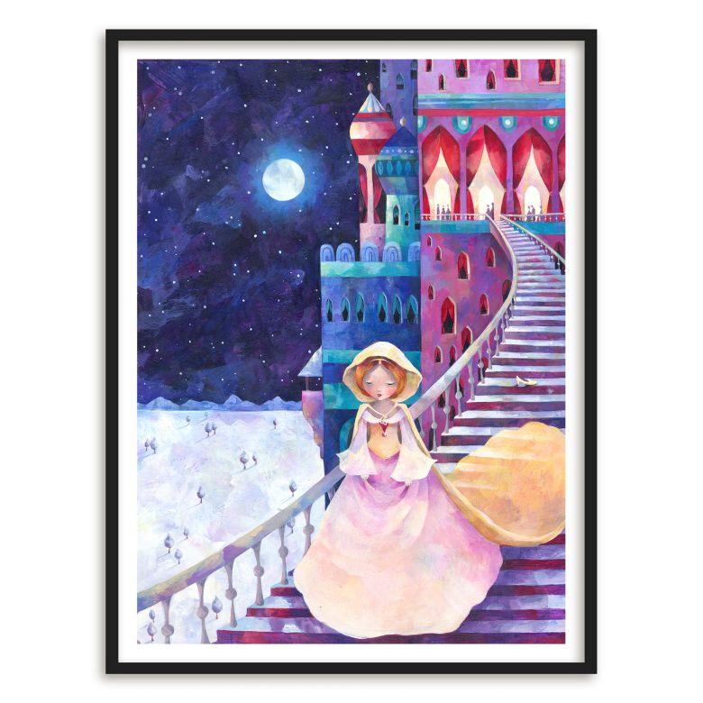 Poster mit Bilderrahmen Blanz - Aschenputtel