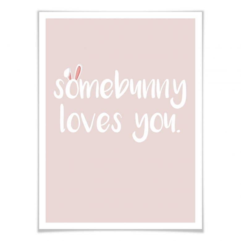 Poster Somebunny loves