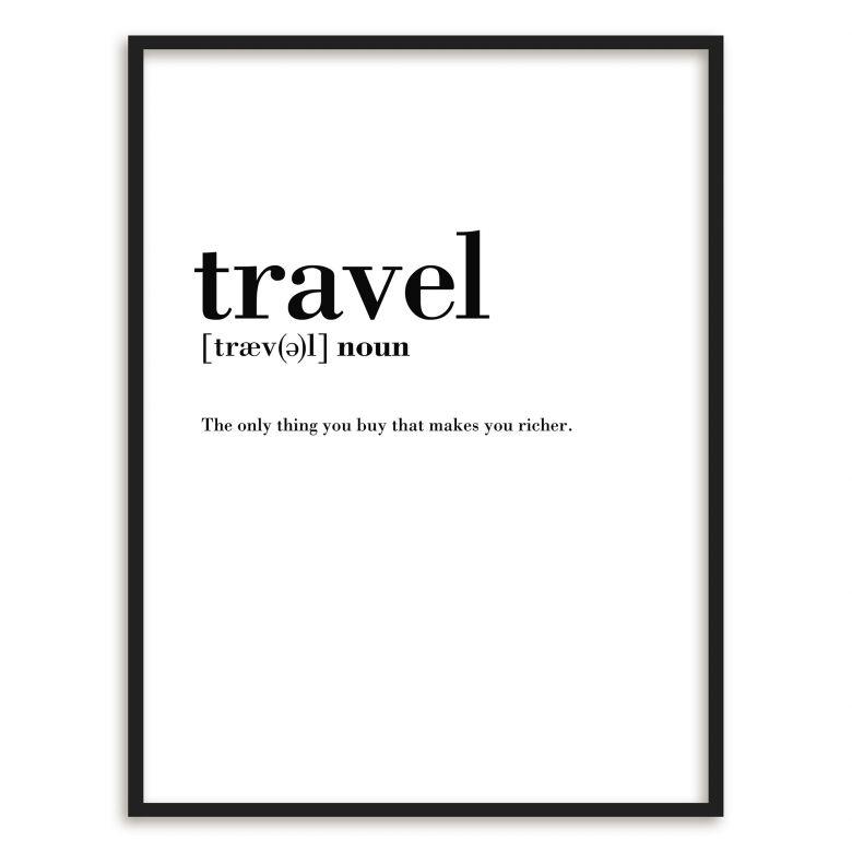 Poster mit Bilderrahmen Grammatik - Travel | wall-art.de