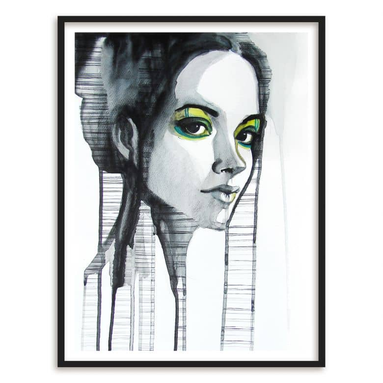 Poster mit Bilderrahmen Green Eyeshadow | wall-art.de