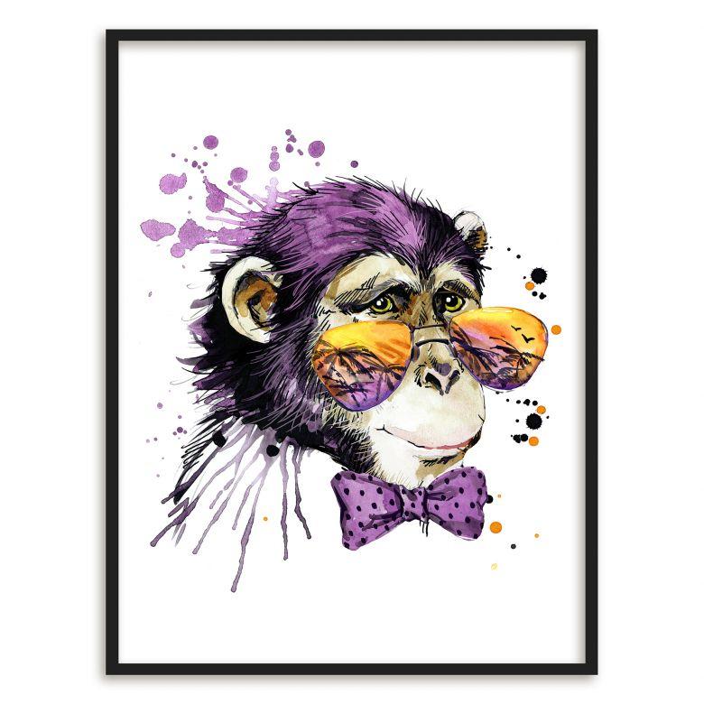 Poster mit Bilderrahmen Monkey Business | wall-art.de