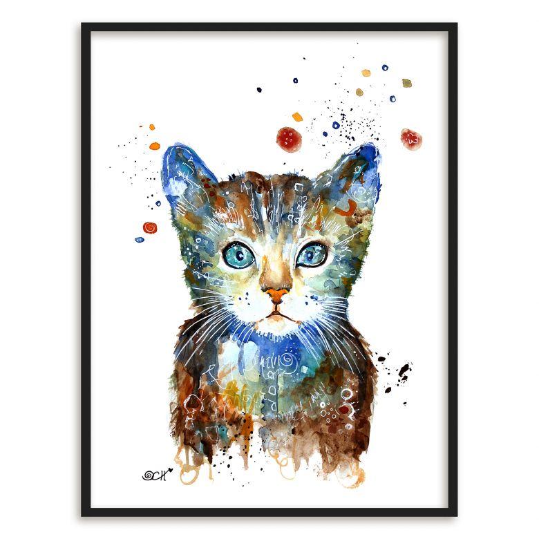 Poster mit Bilderrahmen Hagenmeyer - Kleine Katze