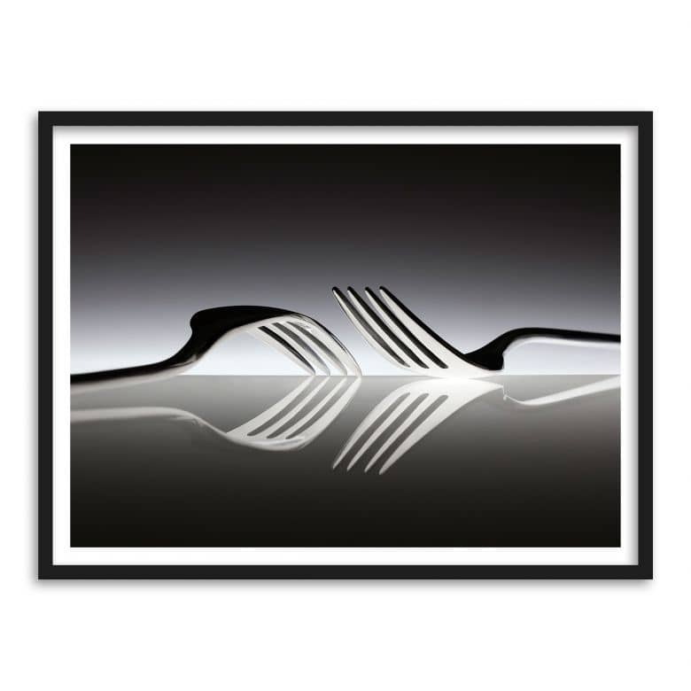 Poster mit Bilderrahmen De Kogel - Silverware Reflection