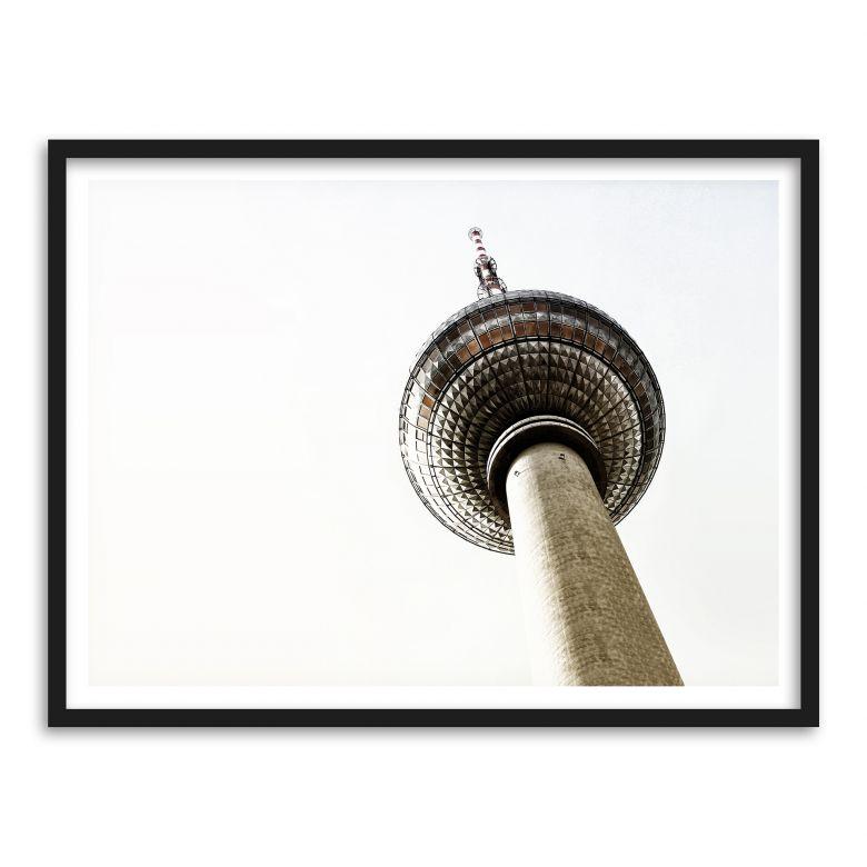 Gerahmtes Poster Der Fernsehturm   wall-art.de