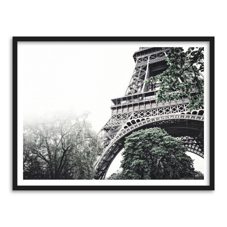 Poster mit Bilderrahmen Nebel in Paris