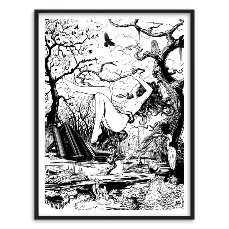 Poster mit Bilderrahmen Drawstore - Swampland