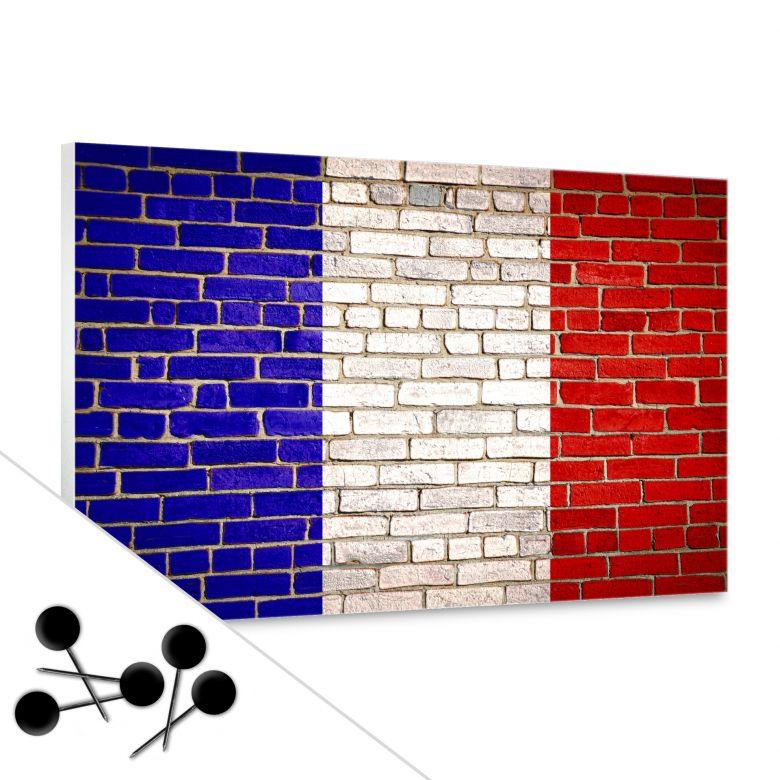 Pinnwand Französische Flagge inkl. 5 Pinnnadeln