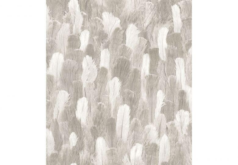 Rasch Mustertapete Vliestapete African Queen II Straußenfedern grau