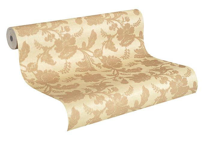 Rasch Vliestapete Trianon XI silber, metallic, creme, beige, natur, Erdtöne