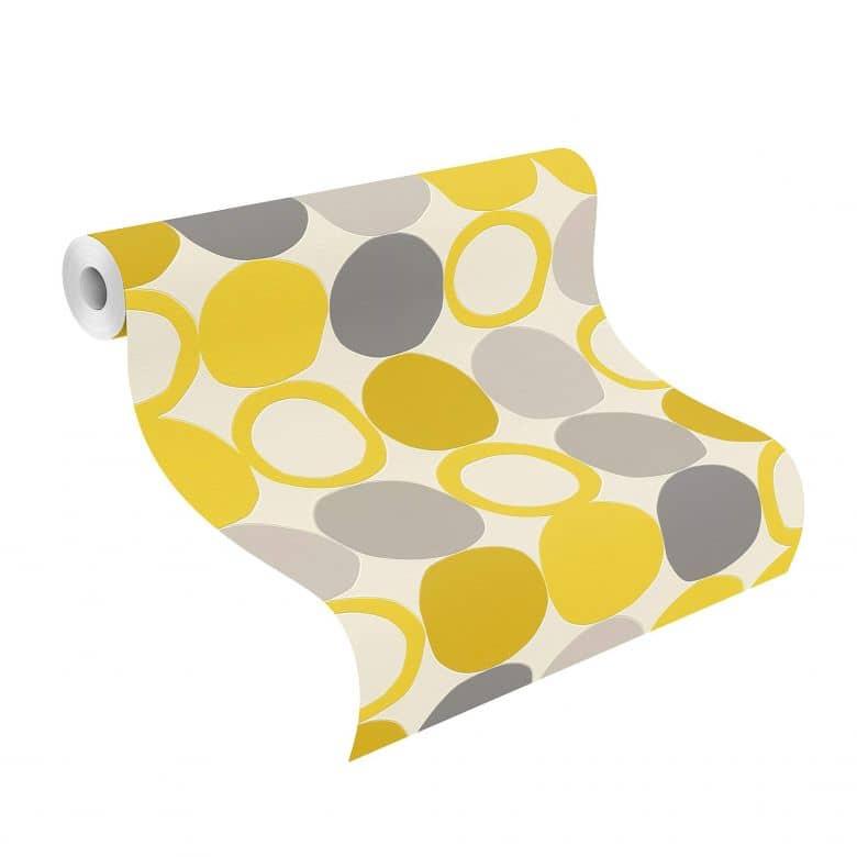 Rasch Tapete HotSpot modern Gelb, Gold, Orange
