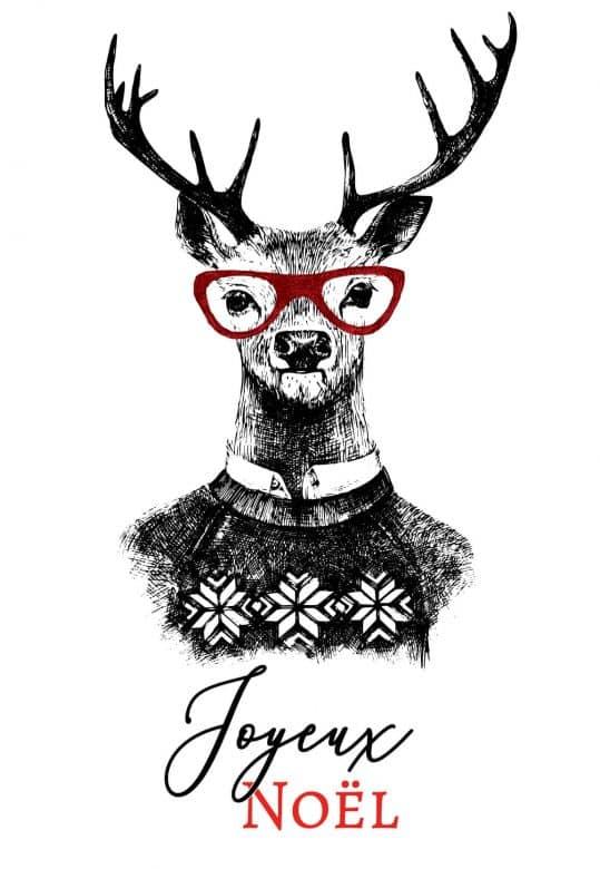 Carte cadeau Joyeux Noël - Cerf