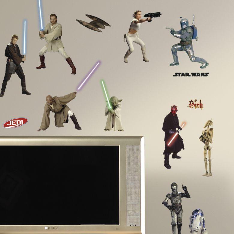 Muursticker Star Wars - Clone Wars Set (Episode 1-3)