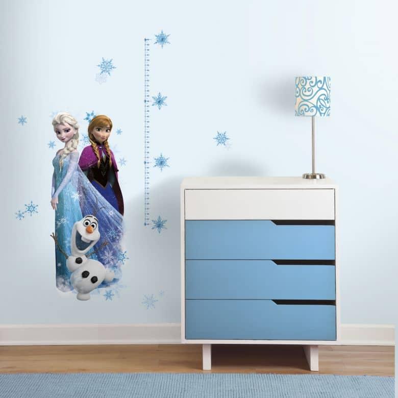 Wandsticker Disney Die Eiskönigin Messlatte Elsa, Anna und Olaf ...