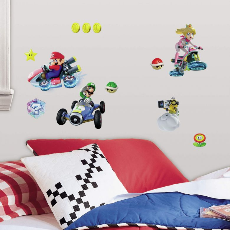 Wall sticker set Super Mario Kart 8 - 44 parts