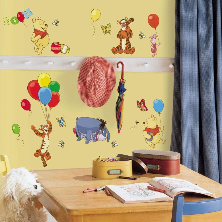 Wall sticker set Winnie the Pooh Balloons