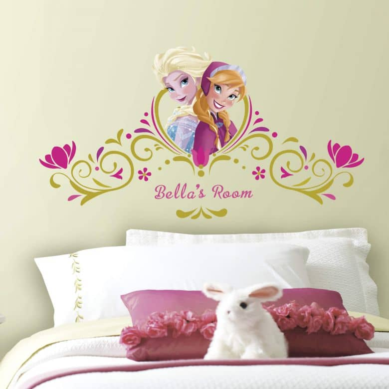 Wall stickers Frozen - Anna and Elsa incl. letters - maxi stickers