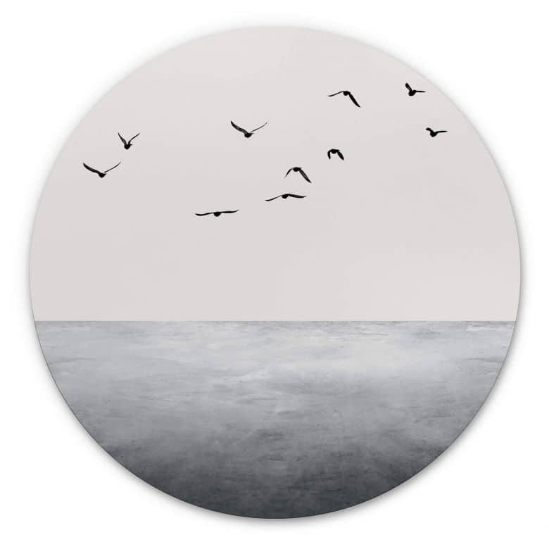Wandcirkel Kubistika - Silent Lake