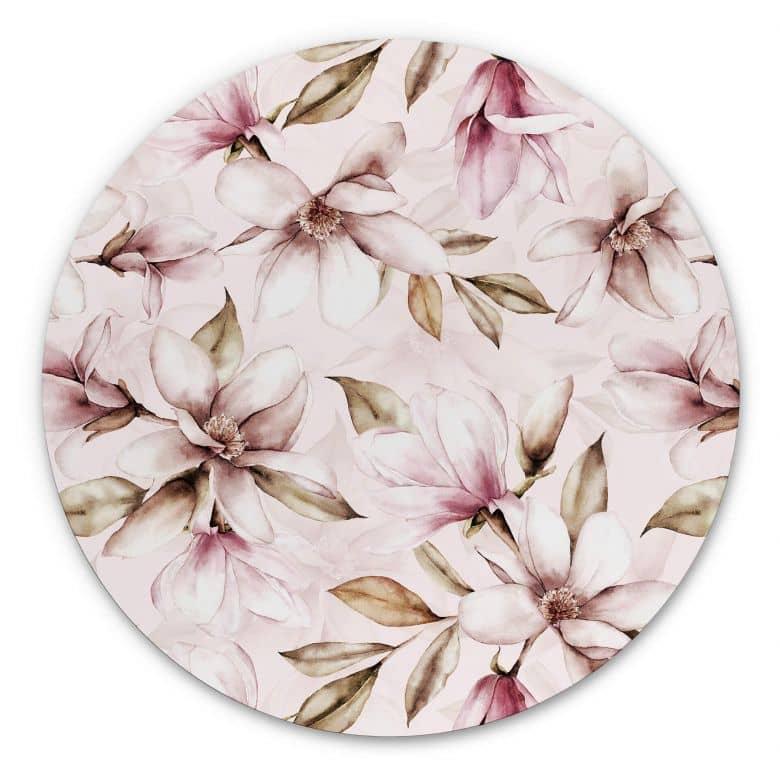 Alu-Dibond UN Designs - Soft Magnolia - Rund