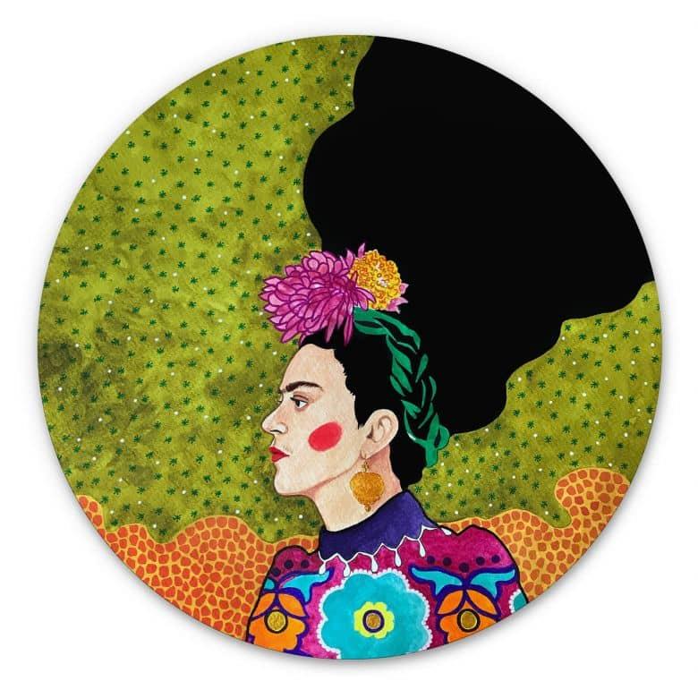Alu-Dibond Hülya - Frida im Portrait - Rund
