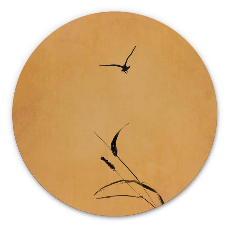 Wandcirkel Kubistika - Sunrise Bird