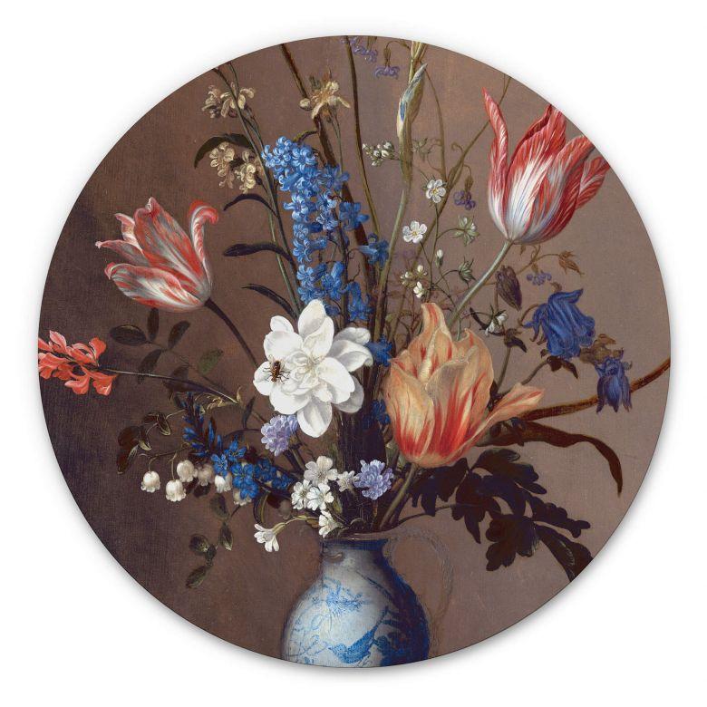Wandcirkel Balthasar van der Ast - Bloemen in een Wan-Li Vaas