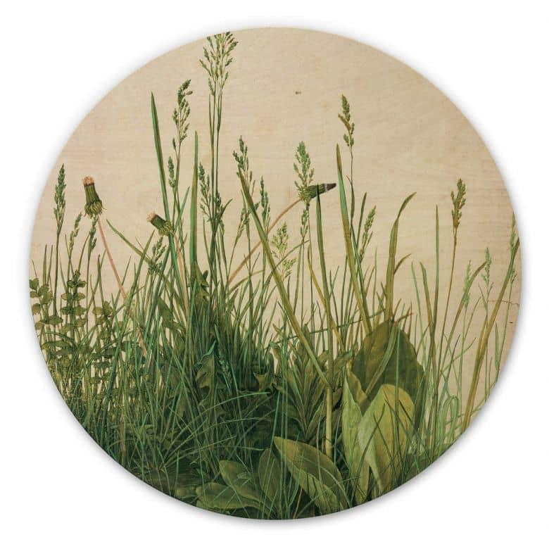 Holzbild Dürer - Das große Rasenstück - Rund