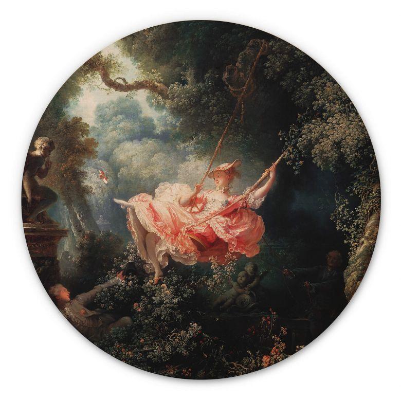 Holzbild Fragonard - Die Schaukel - Rund