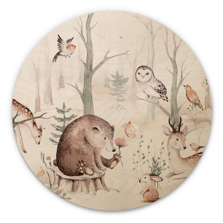 Muurcirkel Hout Kvilis - Dierenvrienden in het Bos