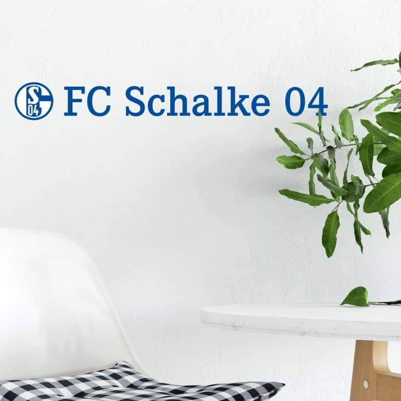 wandtattoo schalke 04 schriftzug deko f r fans vom s04 wall. Black Bedroom Furniture Sets. Home Design Ideas