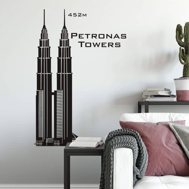 Wandtattoo Petronas-Towers