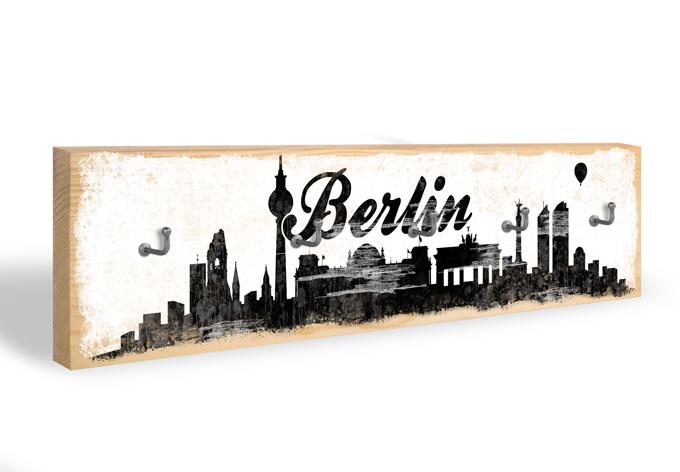 Accroche-clés - Skyline de Berlin 02 + 5 crochets