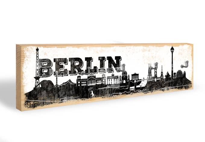 Schlüsselbrett Berliner Skyline + 5 Haken