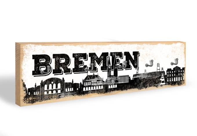 Accroche-clés - Skyline de Breme + 5 crochets