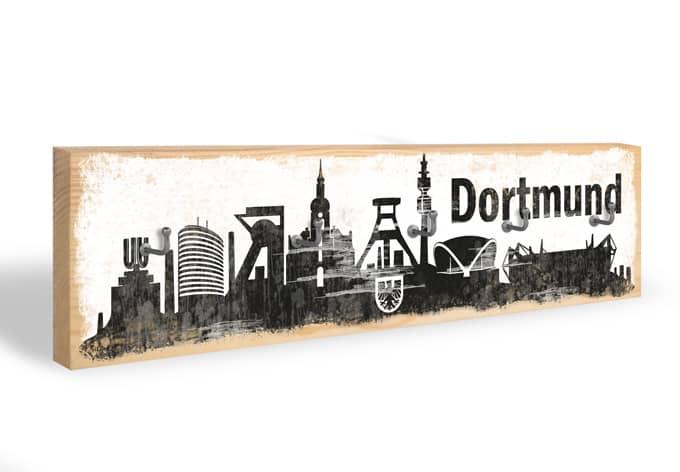 Schlüsselbrett Dortmund Skyline + 5 Haken