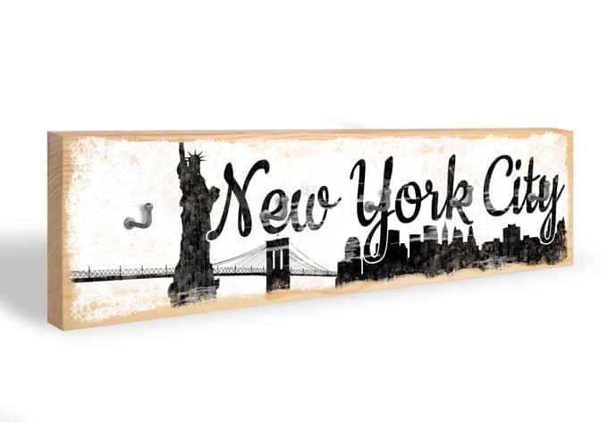 Accroche-clés - Skyline de New York City + 5 crochets