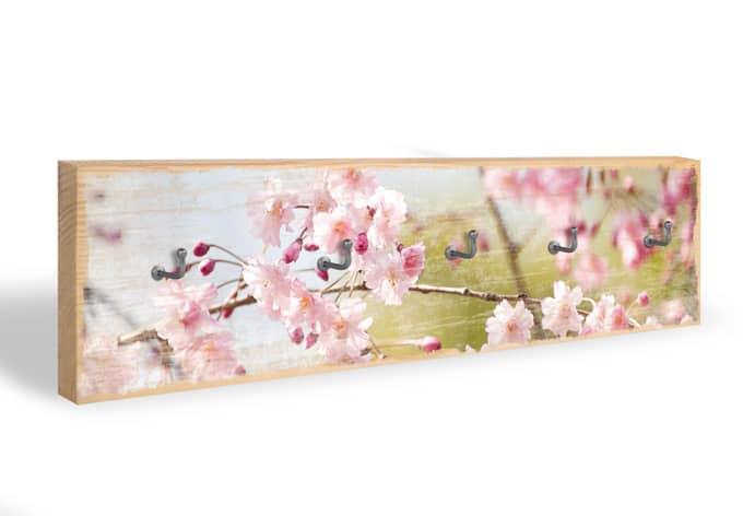Schlüsselbrett Cherry Blossoms + 5 Haken