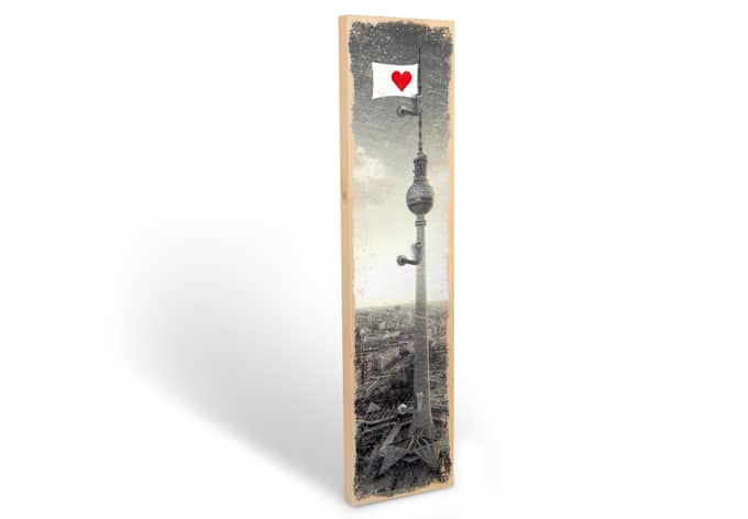 Accroche-clés - I love Berlin + 3 crochets