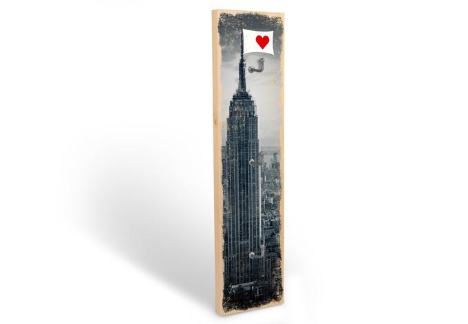 Schlüsselbrett I love New York + 3 Haken