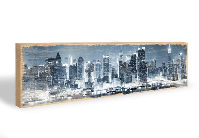 Schlüsselbrett New York at Night 01 + 5 Haken
