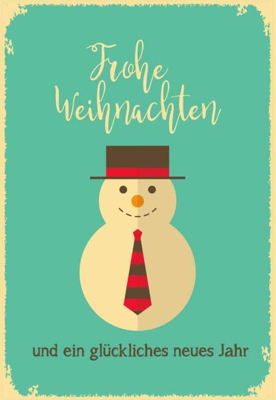 Gutschein Weihnachten - Schneemann