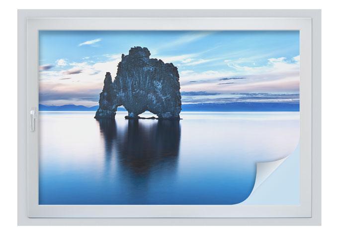 Sichtschutzfolie Felsen im Meer