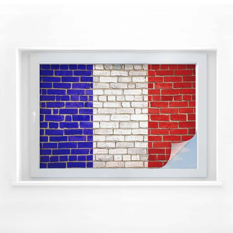 Sichtschutzfolie Französische Flagge Mauer