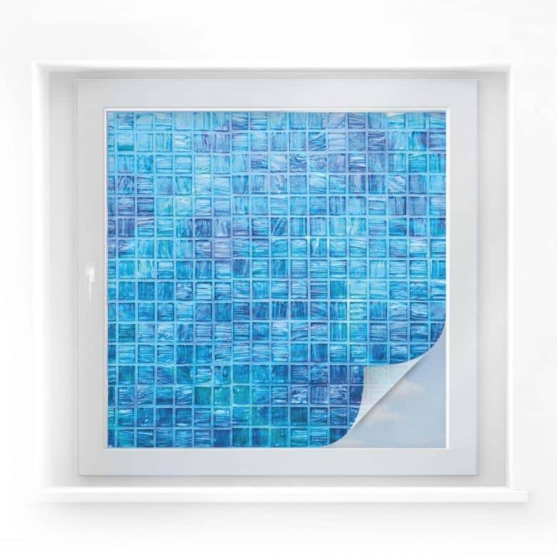 Sichtschutzfolie Glasmosaik - quadratisch