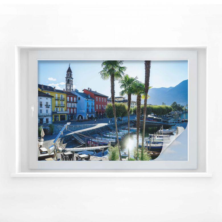 Sichtschutzfolie Hafen am Lago Maggiore